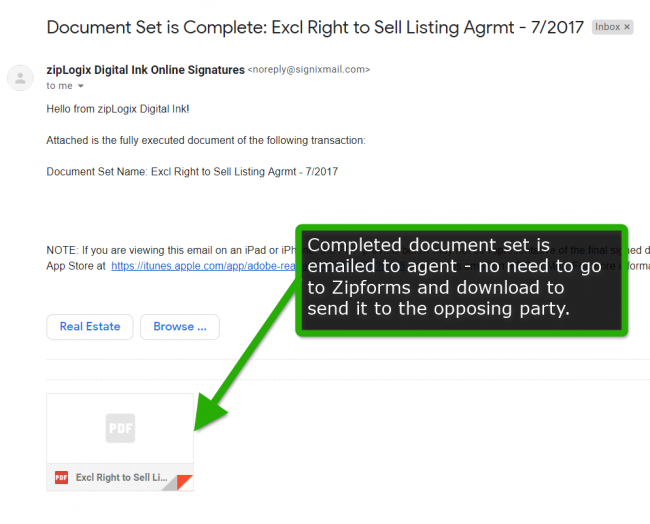 Your Client's View of Zipforms Signing - The Agent Ally